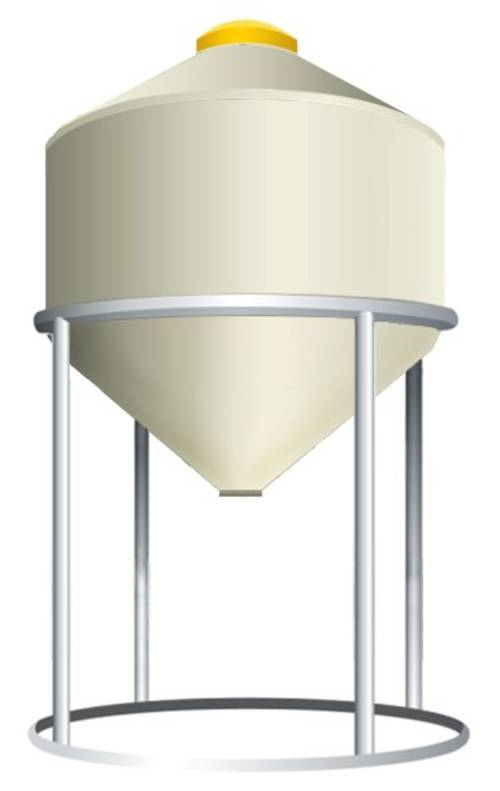600 Litre Storage Hopper - Centre Discharge